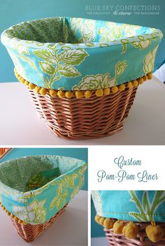 Blue Sky Confections: three more beach cruiser basket liners