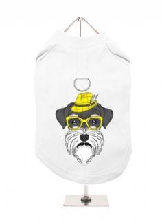 """Humanimals: Schnauzer"" Harness-Lined Dog T-Shirt | Dog Glamour Boutique"