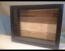 "Reclaimed Wood Shadow Box - 16""x20"" Black"