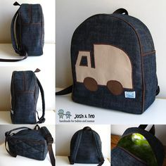 My Handmade Home: Toddler Backpack: Garbage Truck for Alex's Son