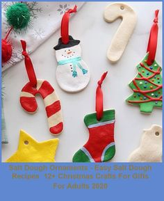 Make special memories with this simple and fun Salt Dough Ornament Recipe. Learn how to make salt dough ornaments so easy the entire family can help! #Ornaments #Recipes #Dough #Dough #Salt christmas crafts for gifts for adults Salt Dough Ornaments - Easy Salt Dough Recipes 12+ Christmas Crafts For Gifts For Adults 2020 Diy Snowman Decorations, Snowman Crafts, Snowman Ornaments, Christmas Tree Decorations, Christmas Ideas, Christmas Crafts For Gifts For Adults, Gifts For Family, Kindergarten, Salt Dough Ornaments