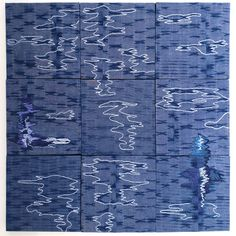 "September 4 to 6 pm is the opening of ""materiality + method"", a small works fiber show, juried by My piece, ""Writ in Water"" is included. Scroll through for details. Art Textile, Textile Patterns, Textile Design, Visible Mending, Textiles, Mixed Media Artwork, Small Words, Mail Art, Repeating Patterns"