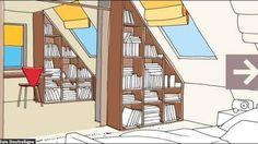 Mesmerizing Attic storage design ideas,Attic renovation tips and Attic bathroom cabinet. Attic House, Attic Loft, Attic Ladder, Attic Staircase, Attic Library, Attic Spaces, Attic Rooms, Attic Playroom, Attic Renovation