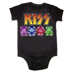 KISS Lil Monsters Baby Bodysuit
