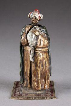 Geschutz Austrian painted bronze erotic figure. : Lot 105