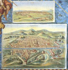 Vatican Galley of Maps - Cities Fiorenza and Siena