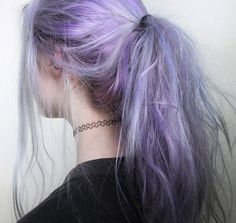 vibrant locks // hair // colour // hair dye // bright // aesthetic // grunge // pastel // purple