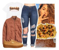 """out and about☀️"" by aribearie ❤ liked on Polyvore featuring Agent 18 and Puma"