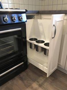 rusztikus konyha, kihúzható fiókelem