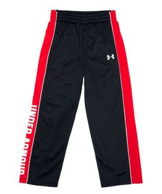 Another great find on #zulily! Black Sideline Tricot Pants - Infant, Toddler & Boys by Under Armour® #zulilyfinds
