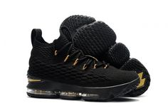 7d179be62dd Spring Summer 2018 Cheap Priced 2018 New Style Nike LeBron 15 Mens  Basketball Shoes Sneakers Core Black Gold