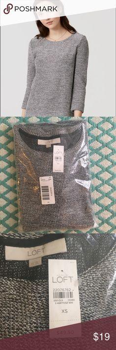 NWT! LOFT Shimmer Boucle Top, XS NWT! LOFT Shimmer Boucle Top, XS. New with tags! LOFT Sweaters