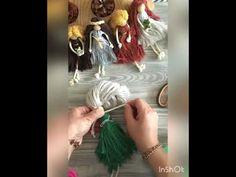 Rope Crafts, Dyi Crafts, Yarn Dolls, Diy Doll, Plant Hanger, Tassels, Crafty, Gifts, Handmade Dolls