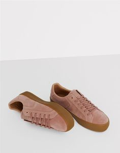 Pull&Bear - woman - women's shoes - nude plimsolls with caramel sole - nude - 15780111-I2016