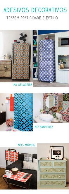 Dicas para decorar apartamento sem gastar muito dinheiro - utilize adesivo decorativo ou papel de parede adesivo
