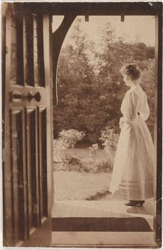 Norman C Deck (Australia 29 May 1882–31 Aug 1980)  Joan at Witty Combe  1910  #Photography #Sepia #Vintage