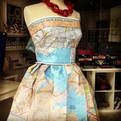 Clever Idea: Nantucket Store Window: Map Dress