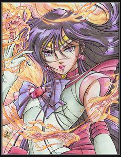 Sailor Moon - Kurumada style  By José Iván Peña Sacasa