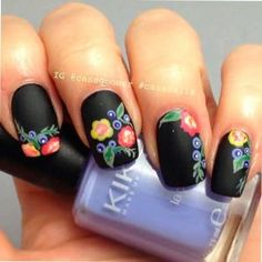 Nail Shapes - My Cool Nail Designs Fancy Nails, Diy Nails, Cute Nails, Pretty Nails, Mexican Nails, Graduation Nails, Floral Nail Art, Nail Patterns, Nagel Gel