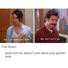 Everyone can learn from this Parks And Rec Memes, Parks And Recreation, Funny Memes, Hilarious, Jokes, Parcs And Rec, Faith In Humanity, Best Shows Ever, Best Tv