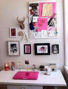 #office #craft #inspiration #room #desk #love #colors #art #escritorio #board #pin #tablon #cute