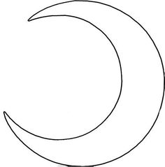 Crescent Moon Pattern Templates Pinterest Crescents