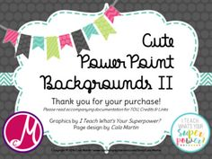 Cute Frames PowerPoint Backgrounds II- HUGE! *EDITABLE!* by Cala Martin