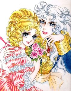 Marie Antoinette and Oscar from The Rose of Versailles manga by Riyoko Ikeda