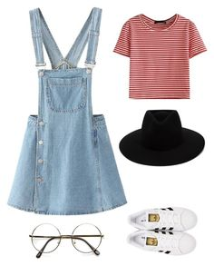➰Classic and cute➰ by queenmgt on Polyvore featuring polyvore, fashion, style, WithChic, adidas Originals, rag & bone and clothing