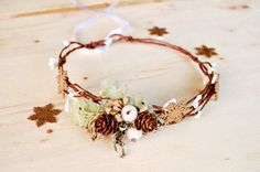 Toddler Christmas Crown Winter Berry Crown Gold by LumilinA