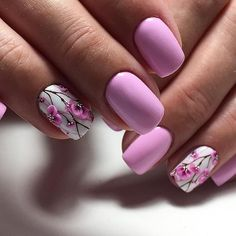 50 Beautiful Floral Nail Designs For Spring - Page 50 of 50 - Chic Hostess Orange Nail Designs, Nail Designs Spring, Acrylic Nail Designs, Nail Art Designs, Fancy Nails, Cute Nails, My Nails, Stylish Nails, Trendy Nails