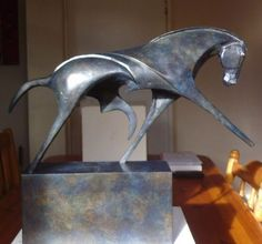 Bronze Minimalist Abstract Sculptures #sculpture by #sculptor Marie Ackers titled: 'extended troy number 3' £3150 #art