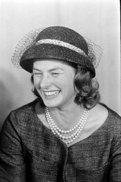A young & giggling Ingrid Bergman... I love this photo.  LMR