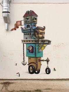 Post: Street Art by Kislow Grafitti Street, Murals Street Art, Graffiti Murals, Art Mural, Wall Murals, Graffiti Artists, Amazing Street Art, Amazing Art, Ukrainian Art