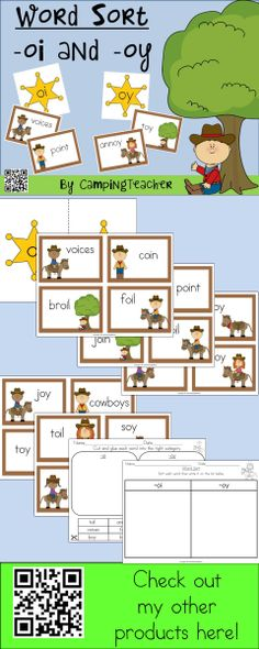 Word sort -oi and -oy