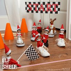Shoe Race! | Elf on the Shelf Ideas