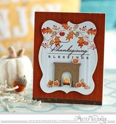 Thanksgiving Blessings Card by Betsy Veldman for Papertrey Ink (October 2015)