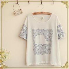 Buy 'Fairyland – Whale Print T-Shirt' with Free International Shipping at YesStyle.com. Browse and shop for thousands of Asian fashion items from China and more!