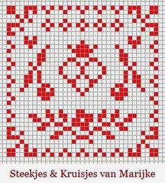 Het borduurpatroontje dat ik voor het patchwork speldenkussentje heb gebruikt is een freebie die ik vorig jaar een keer ...