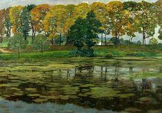 Krajina s rybníkem / Landscape with a pond, Hudeček Antonín. Czech (1872 - 1941)