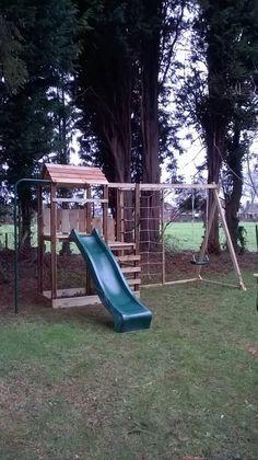 Your place to buy and sell all things handmade Playground Swing Set, Kids Backyard Playground, Backyard For Kids, Playground Ideas, Wooden Climbing Frame, Climbing Frames, Pallet Playhouse, Playhouse Plans, Tortoise House