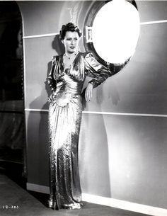 Irene Dunne wearing a Howard Greer gown in 1939.