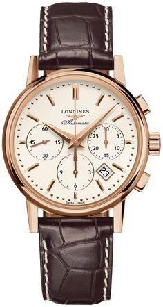 21f8c311922 Longines Heritage Column-Wheel Chronograph L2.733.8.72.2. Relógios ...