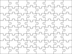 Image detail for -Blank Jigsaw Puzzle Template Free Printable
