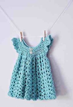 """10 free crochet baby girl dresses [   """"Ten FREE crochet dress patterns by The Lavender Chair. Links to lots of baby patterns here."""",   """"Angel Wings Pinafore pattern by Maxine Gonser"""",   """"Approximately 3 oz yarn needed for newborn size."""" ] #<br/> # #Crochet #Baby #Dress #Pattern,<br/> # #Baby #Dress #Patterns,<br/> # #Crochet #Baby #Dresses,<br/> # #Crochet #For #Baby,<br/> # #Crochet #Clothes,<br/> # #Free #Crochet,<br/> # #Free #Baby #Crochet #Patterns,<br/> # #Crochet #Dress #Girl,<br/> #…"""