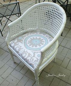 faux bamboo barrel chair