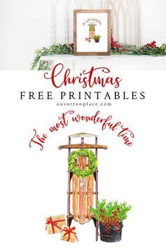 Savor the season with this free Christmas printable wall art. Just print