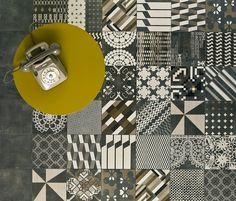 https://tile.expert/img_lb/Mutina/Azulej/per_sito/ambienti/Azulej-Mutina-1.jpg , Kitchen, Living room, Public spaces, Bathroom, Patchwork style, Designer style, Patricia Urquiola, Concrete effect, Porcelain stoneware, wall & floor, Matte, Non-rectified