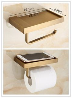 Antique New Design Brass Bathroom Toilet Roll Holder Paper Holder Phone Holder TAB98Y
