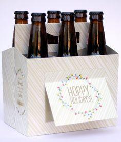 Hoppy Holidays! Root Beer-greetings!  Decorate bottles of I.B.C. Root beer to look like reindeer.  Fun gift.